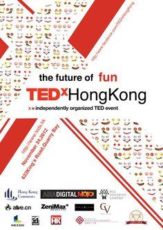 Tedx Hong Kong 2012 -The future of fun by Sue Lai, via Behance