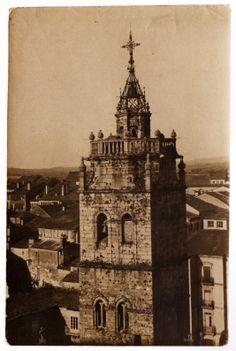 Torre do reloxo da catedral de Lugo, ca. 1915