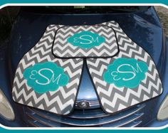 Floral Monogrammed Car Mats Classy Black Monogram by ChicMonogram