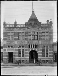 Photograph taken by the Steffano Webb Photographic Studio, Christchurch. Source of descriptive information - Negative register and inscriptions on. Nz History, Christchurch New Zealand, Photographic Studio, Back In Time, Offices, The Past, Louvre, Street View, Meat