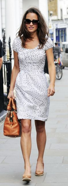Simple dresses, nicely cut. Cap sleeves and cardigans are always in style.                                                                                                                                                      More
