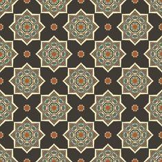Illustration of Ethnic floral seamless pattern. Abstract ornamental pattern vector art, clipart and stock vectors. Border Design, Pattern Design, Print Design, Pakistani Kurta Designs, Medieval Pattern, Stencil Patterns, 3d Max, Islamic Art, Retro