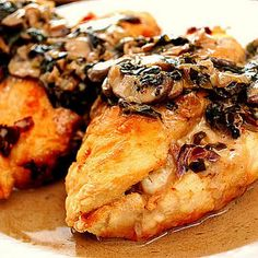 Stuffed Chicken Marsala