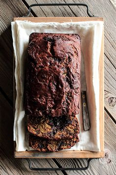 Nutella Swirled Banana Bread by pastryaffair. Best flipping bread ever, I make it all the time.