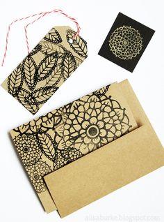 Alisa Burke — doodle flowers rubber stamp sheet