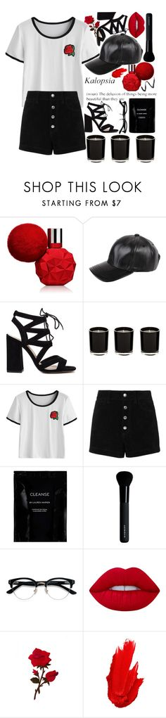 """""""🌹 kalopsia 🌹"""" by muah-grace ❤ liked on Polyvore featuring Armitage Avenue, rag & bone/JEAN, Cleanse by Lauren Napier, Givenchy, Ace, Lime Crime, Maybelline and Topshop"""