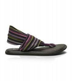Sanuk Yoga Sling Women's Sandals Purple Zig Zag #sanuk
