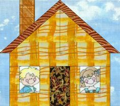 Home Sweet Home Paper Pieced Block - Learn how to make this block and you can make a whole paper pieced house quilt or incorporate just one house block into a quilt with many different kinds of blocks. Resize the paper piecing template to make different sized blocks. This free quilting pattern has a truly cute and country feel that could easily make any quilt or home cozier.