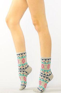 Accessories Boutique Women's The Aztec Socks One Size Gray Accessories Boutique. $9.00