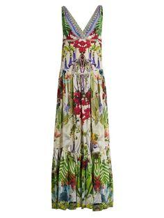 CAMILLA Exotic Hypnotic-print silk dress. #camilla #cloth #dress