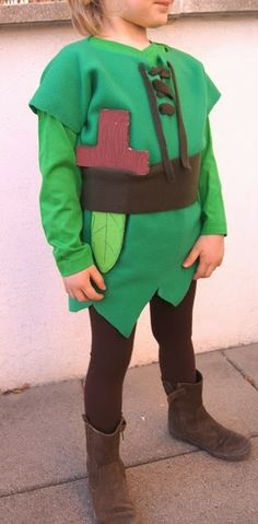 Costume da carnevale di Peter Pan