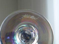 Mehrfarbige Muschelvase irisiert wie Loetz Kralik Palme signiert, Art Jugendstil in Antiquitäten & Kunst, Glas & Kristall, Dekorglas | eBay!