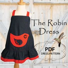 Childrens sewing pattern PDF, Girls dress pattern, Children Kids Baby, Childrens clothing, baby sewing pattern, Easy beginner, Robin Dress. $7.50, via Etsy.