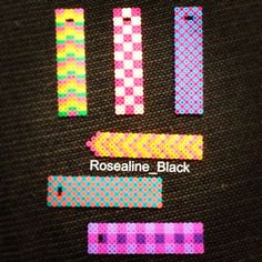 Perler bead bookmarks made and designed by Rosealine Black