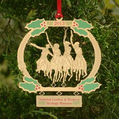 Annual Holiday ornament for 2013, featuring Coming Through the Rye.   We are near sold out! Reserve your ornament today!