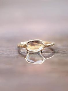 Bespoke & Spoken For - Smokey Diamond Slice Ring – Gardens of the Sun