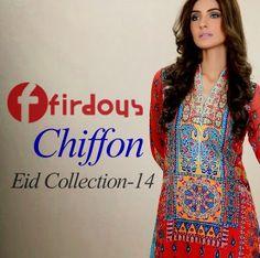 Smart Fashion Girls & Boys: Firdous Chiffon Eid Collection 2014 | Chiffon Lawn...