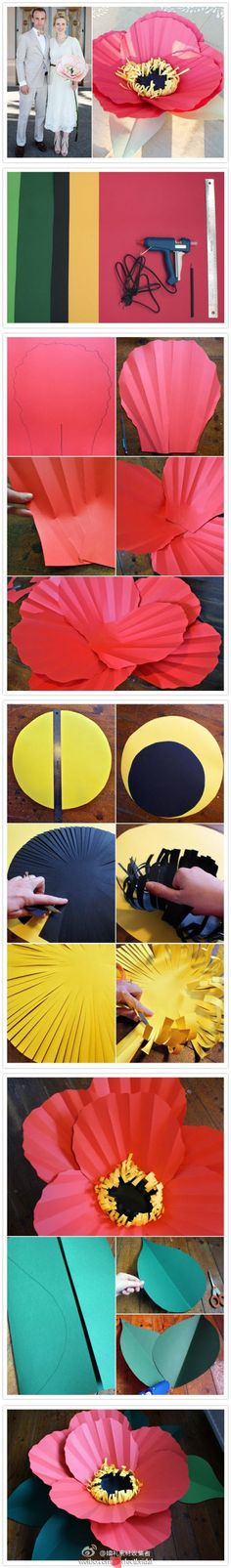 Wonderful #DIY giant poppies