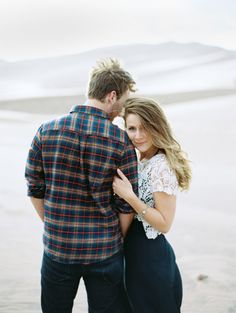 This couple takes stunning to a whole new level: http://www.stylemepretty.com/colorado-weddings/2014/10/27/great-sand-dunes-engagement/ | Photography: Brumley & Wells - http://brumleyandwells.com/