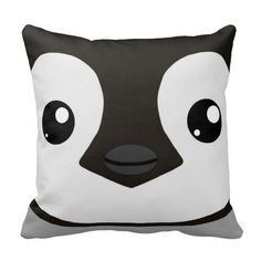 Emperor Penguin Chick Pillow great for a baby nursery or kid's room.