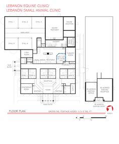 Veterinary floor plan: Lebanon Equine Clinic/Lebanon Small Animal Clinic