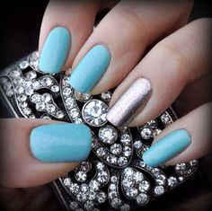 Sinful colors Cinderella. Light sky blue with pink and gold sparkles :)