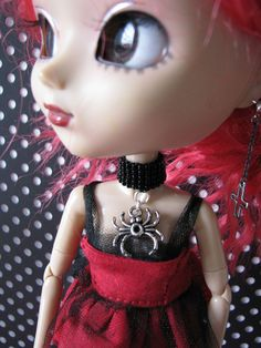 Pullip Fashion Doll Spider Choker Necklace Jewelry by finasma. #pullip