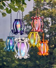Colorful Solar Scroll Lanterns