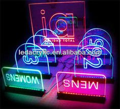Countertop Laser Engraving Acrylic Led Edge Lit Sign - Buy Led ...