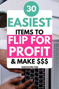 Flipping items is one of the best ways to earn more cash and one of the easiest side hustles that literally anyone can start today. Here are 30 best items to Flip For Profit. #makemoney #Flipitems Make Money From Home, Make Money Online, How To Make Money, Investing Money, Saving Money, Hustle Quotes, Making Extra Cash, Concert Tees, Free Tips