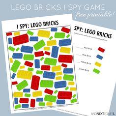 LEGO Bricks Themed I Spy Game {Free Printable for Kids} Free printable LEGO bricks themed I Spy game for kids from And Next Comes L Spy Games For Kids, Camping Games Kids, I Spy Games, Lego For Kids, Lego Games, Math Games, Lego Math, Lego Craft, Lego Duplo