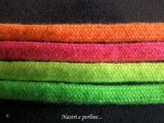 Gamma di colori disponibili per bracciali Intrecci. Colori Fluorescenti