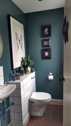 New Farrow & Ball's Inchyra Blue. New Farrow & Ball's Inchyra Blue. Coral Bathroom Decor, Small Bathroom Colors, Bathroom Ideas, Bathroom Organization, Budget Bathroom, Bathroom Storage, Boho Bathroom, Blue Bathroom Paint, Bathroom Designs