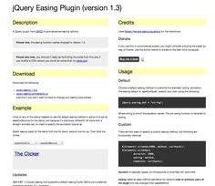 jQuery Easing Plugin (version 1.3)
