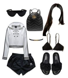 """""""Untitled #47"""" by cryamilet19 on Polyvore featuring Puma, adidas, Gucci and Hollister Co."""