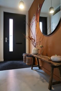design ideas for a living room design ideas of living room interior design free design online course for interior design free interior design design courses online interior design Hallway Inspiration, Interior Inspiration, Boho Living Room, Living Room Decor, Style At Home, Home Renovation, Home Remodeling, Small Hallways, Interiores Design