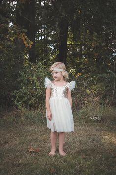 Ivory Dress Flower Girl Dress Boutique Dress by PippaAndPenelope