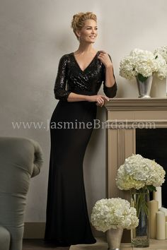 Jasmine Bridal Jade Couture Style K198004 In Shadow Black Mob Dresses Event