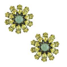Badgley Mischka Yellow Flower Earrings