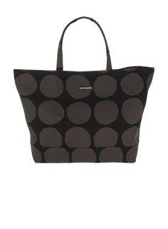 89664c3c19731 Pienet Kivet Opaali-bag Marimekko Grey Bags, Black Tote Bag, Marimekko,