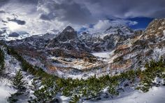 Download wallpapers Triglav, mountain, winter, snow, mountain landscape, Alps, Slovenia