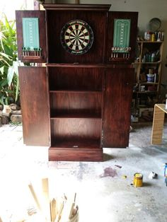 Freestanding Dartboard Cabinet Made By James Waters Creations