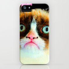 Misunderstood - Grumpy Cat Tribute iPhone Case by Sharon Cummings