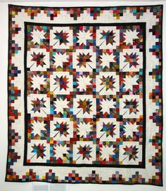 Scrappy Maple Leaf free quilt pattern (.pdf)