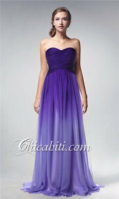 dc028fd206f9 abiti da sera lunghi chiffon ombre-sfumature di colore Prom Dress 2014