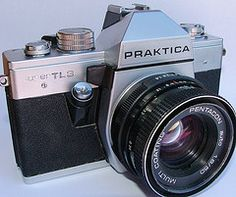 My Praktica Super TL3 just bought for my by the boyfriend from an antiques market. It was made between '78 and '80 and I bloody love it.