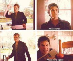 Klaus tries to get in the house - one of my favorite scenes from The Vampire Diaries. #TVD