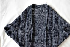Pieni Lintu: DIY knitted bolero Old Clothes, Cardigan Pattern, Couture, String Art, Knitting Needles, Knit Crochet, Diys, Fashion Accessories, Street Style