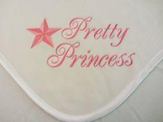 Custom Pretty Princess and Star Fleece Baby by RiginalsByRuth, $70.00 ($6 shipping)