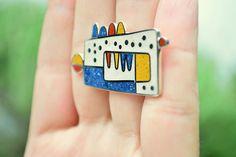 :: Sterling Silver Ring - Primay Colors - Geometric Design :: | Flickr: Intercambio de fotos